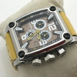 Akribos XXIV Men Watch Analog Chronograph Yellow L